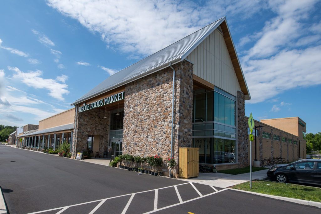 A Whole Foods Market anchors one of six new buildings.