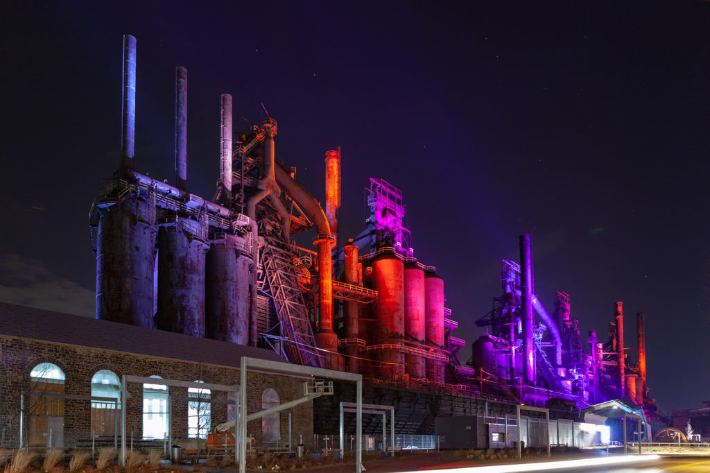 SteelStacks at the former Bethlehem Steel in Bethlehem, PA